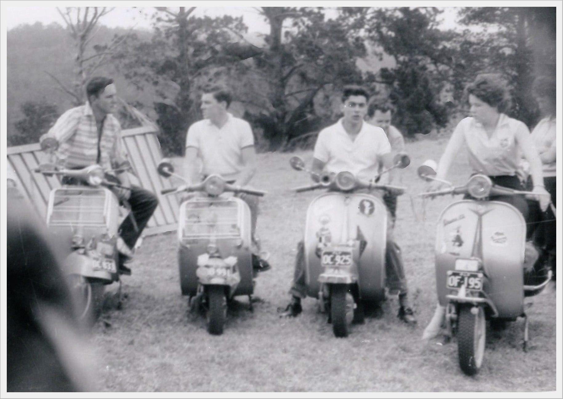 Vespa club members, Toowoomba 1960