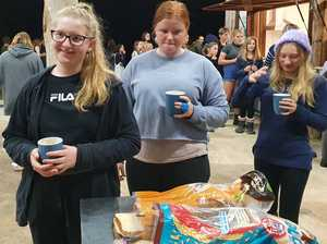 NDSHS students Sleep Rough for the Homeless