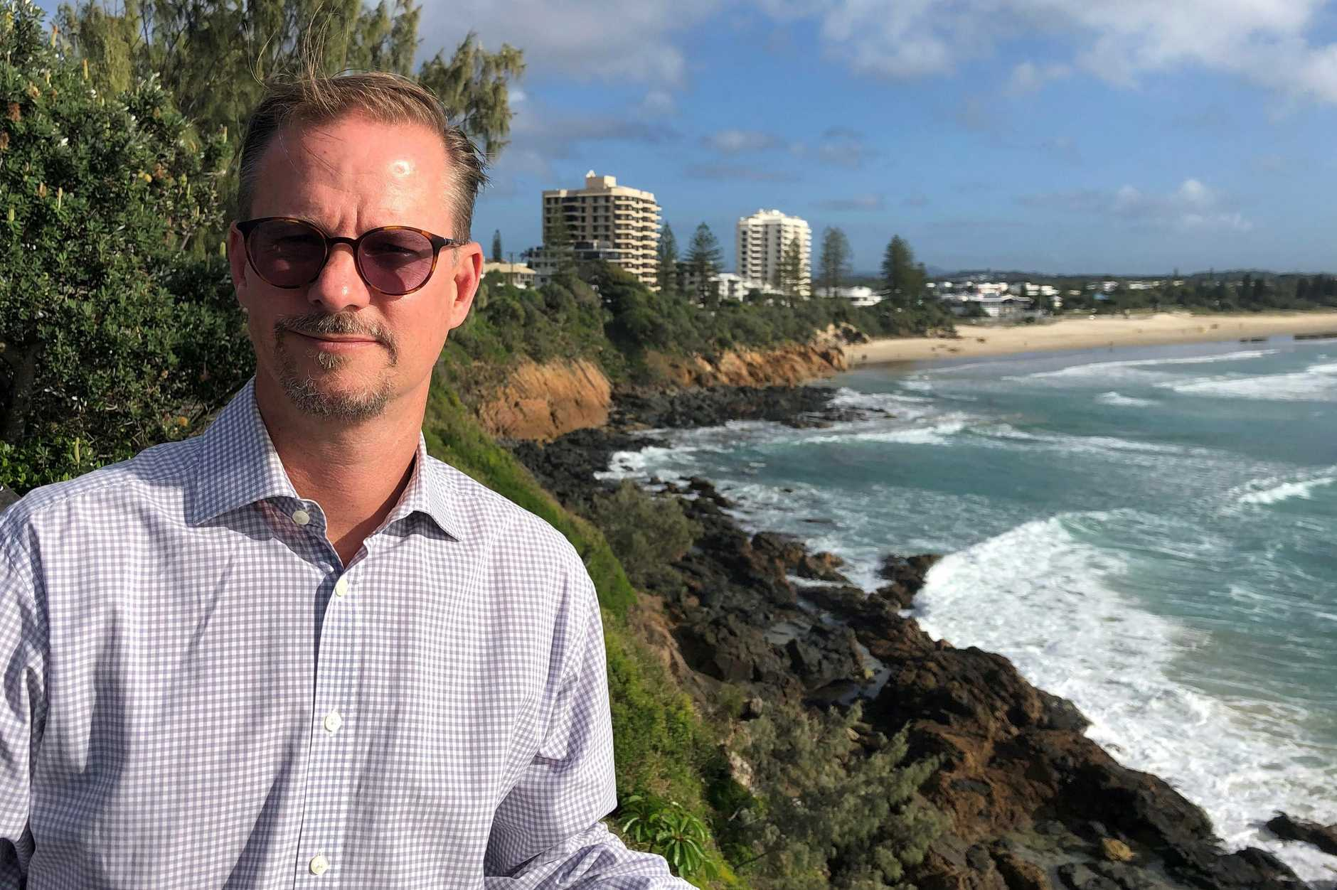 Mark Cameron is concerned about the affects of COVID on Coolum businesses