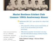 Marist Brothers Cricket Club 100th anniversary dinner