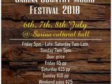 Sarina country music Festival 2018
