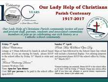 Our Lady Help of Christians Parish School Centenary
