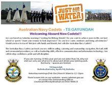 TS Gayundah Navy. Cadets