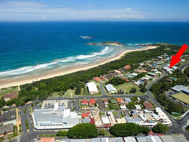 Views down Middle Arm Creek to the sea, Bongil Bongil National Park and Bundagen Beach.