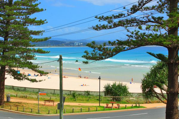 The opportunities to live on the beachfront of Rainbow Bay are few and far between, so dont blink or...
