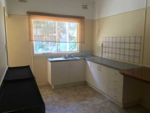 Older style 2 bedroom unit up one flight of stairs.  