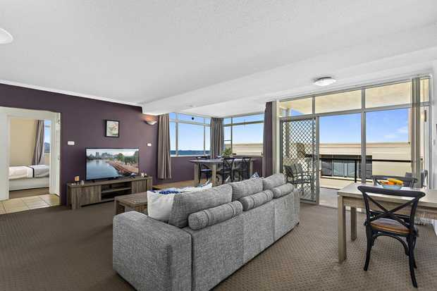Be quick to inspect this modern 2 bedroom apartment. Look out at great ocean views from the living area...