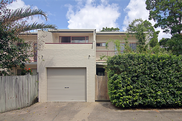 Located at the rear of a small, well cared for complex this solid brick double story townhouse boasts a...