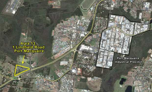 Level development site fronting the Oxley Freeway. 
