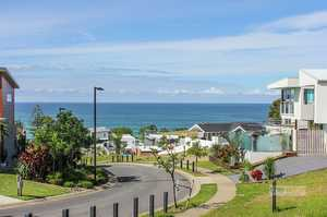 Elevated lot with ocean views...