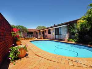 Perfect location, single level home with a pool just in time for summer...