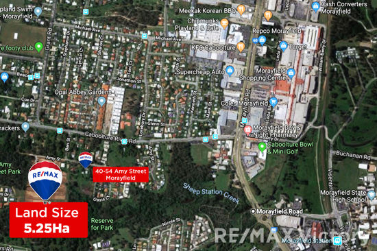 Located within a short distance from Morayfield Shopping Centre this 5.25 ha parcel of land has 2...